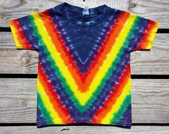 Adult Rainbow Tie Dye Tshirt, S M L XL 2XL 3XL, Rainbow Chevron Tie Dye Shirt, Mens Tie Dye, Womens Tie Dye, Hippie, Tie Dye Tee