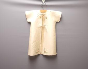 1940's Handmade Cream Baby Crib Coat Set, Vintage Baby Coat, Vintage Baby Clothes, Size 6-9 Months