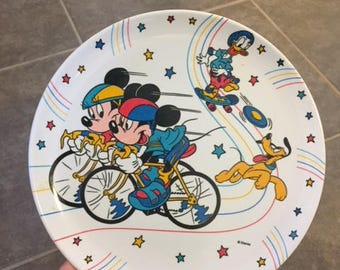 Vintage Disney Mickey Mouse plastic plate