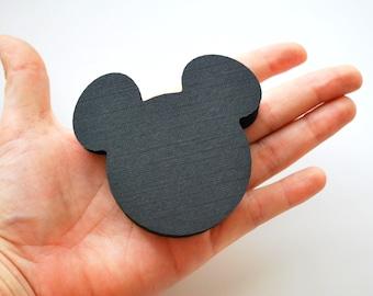 Mickey prédécoupés, Die Cut-Mickey Mouse, Mickey tête Die cut, découpes de papier cartonné, Mickey fête coupes, 2,5 pouces, A383