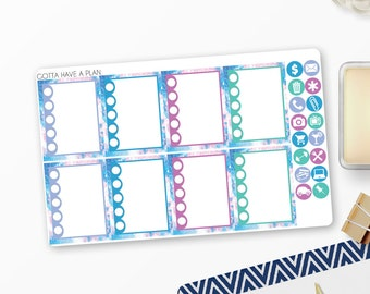 Planner Stickers Wild and Free Checklists for Erin Condren, Happy Planner, Filofax, Scrapbooking