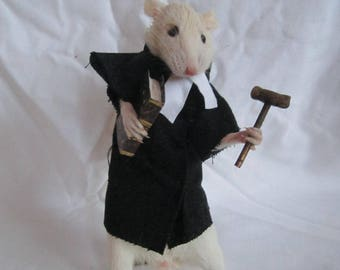 taxidermy rat lawyer taxidermy rat oditties curiosity