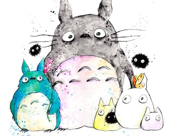 My Neighbor Totoro Print  8.5x11 inch inkjet print art painting