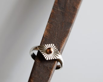 Bronze & Sterling Silver Stackable Ring