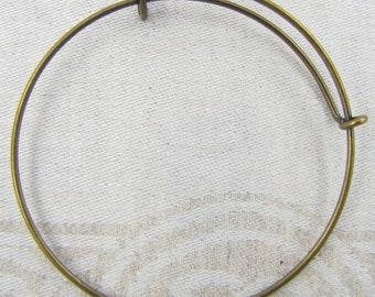 1 or 3 Bracelets, Charm Bracelet, Adjustable Bracelet, Bronze Bracelet, Expandable Bracelet, Adjustable Bangle, Bracelets, FIN006BZ