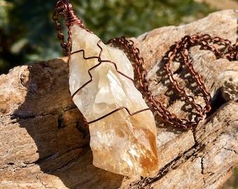 Citrine Necklace for Manifesting Success & Abundance - Solar Plexus Chakra Stone