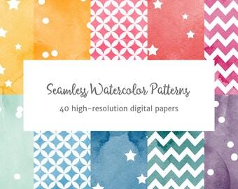 Seamless Watercolor Patterns