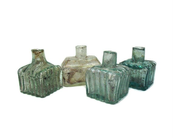 Antique Glass Ink Bottle Collection