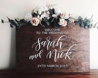 Wooden Wedding Sign | Welcome sign | Wedding Signage | Chalkboard Sign | Rustic Wedding Sign | Wedding Decor | Event Sign