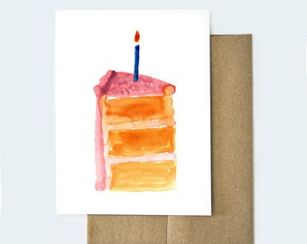 Card for Birthday, Card for Colleague, Birthday Card for Best Friend, Watercolor Cards, Birthday Cards, Congratulations Card, Card for Mom