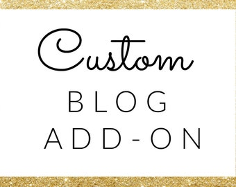 Custom Blog Design Add-On