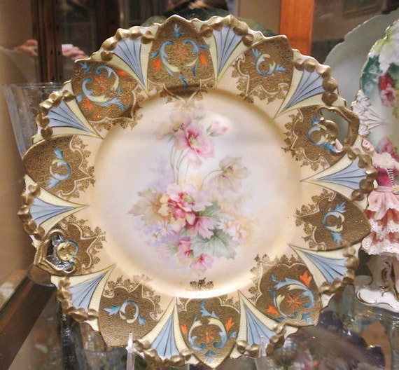 RS Prussia Porcelain Cake Plate