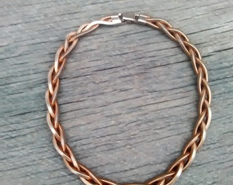 Gold Tone Braided Choker Necklace, Inv.#215