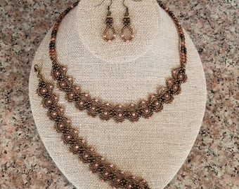 Primrose Beaded Bracelet and/or Necklace and/or Earrings
