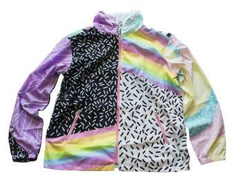 aesthetix windbreaker XS - 3XL | plus size kawaii pastel decora fairy kei harajuku cute 90s 80s tumblr rainbow kitsch pastel grunge jfashion