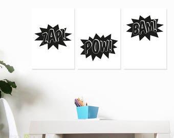 Superhero Comic Words – Bam! Zap! Pow!