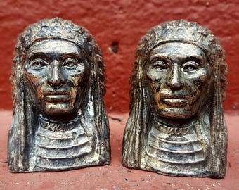 Native American Head Salt and Pepper Shakers