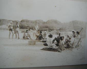 Vintage Snapshot Photo - Summer Beach Party