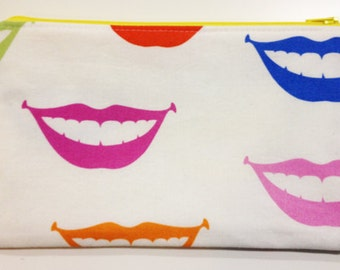 Colorful Mouths Zipper Pouch/Toiletry Bag