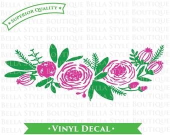 Watercolor Flowers VINYL DECAL