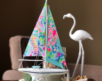Lilly Pulitzer Multi Catch the Wave sailboat