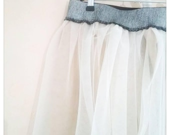 Blush - cotton sateen lining tulle skirt