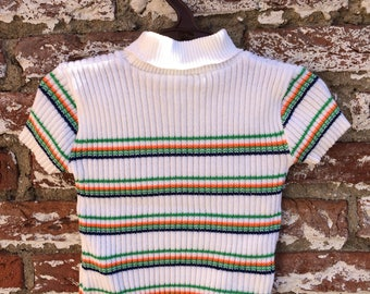 Seventies striped baby top
