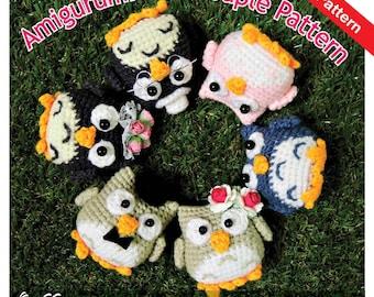 PDF Pattern - Amigurumi Owl Couple