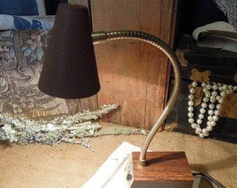 Vintage Desk Lamp Brown / MId-Century / Tenson Company New York Lighting / Desk Light Lamp