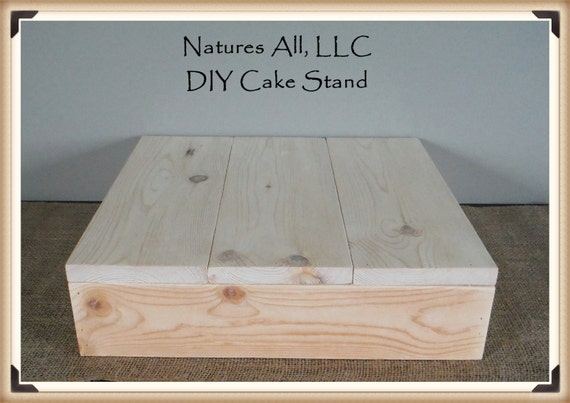 """14"""" DIY Rustic Wedding Cake Stand/Country Wedding Cake Stand/Unfinished -Natural Wood"""