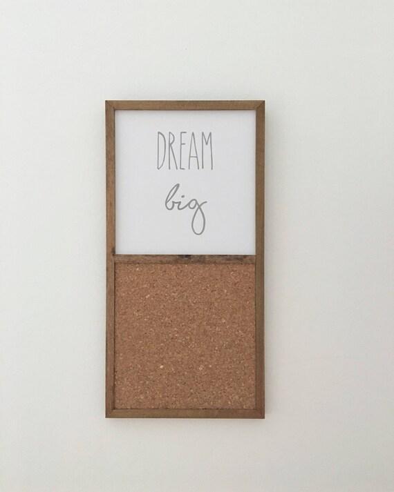 Dream Big Wood Sign & Cork Board ~ Handmade Wood Sign