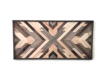 Wood wall art, large wood wall decor, wood decor, rustic wood decor, boho decor, living room wall art, southwest decor, gift for her