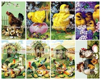 Easter Digital Download Collage 8 Vintage Easter Holiday Download