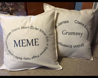 Grandparent Pillows/Custom Pillow