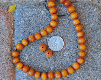 African Copal Resin Beads: 11mm