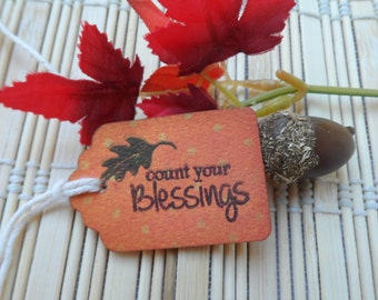 Count Your Blessings, Thanksgiving Tag, Blessings, Fall Tag, Gratitude, Holiday Tag