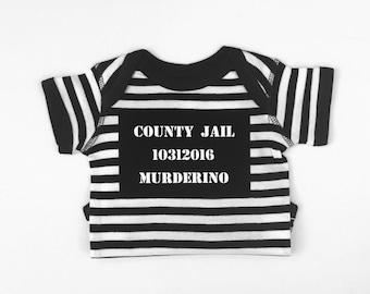 My Favorite Murder Costume, Murderino Costume, Jailbird Costume, Toddler Costume, First Halloween