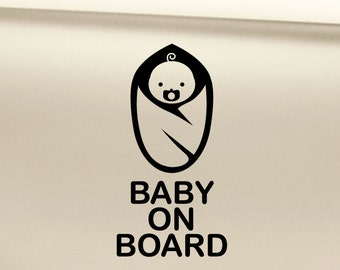 Baby on Board Vinyl Decal Sticker
