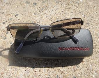 RICHARD TAYLOR Scottdale Irvin Designer Eyeglass Frames GUNMETAL 56[]17 140 mm in case