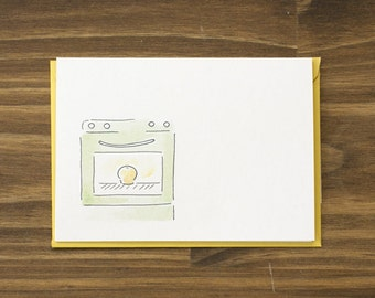 bun in the oven baby card
