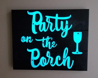 Glow in the dark signs for interior and exterior use.
