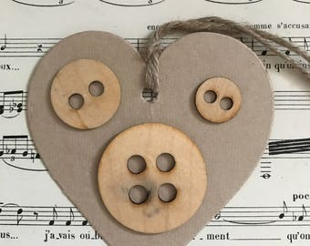 Wood round sewing buttons