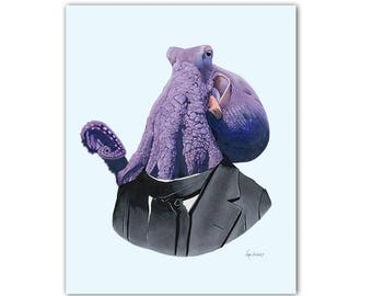 Octopus print 8x10
