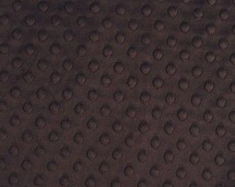 Minky fabric, velvet fabric minkee fabric chocolate coupon