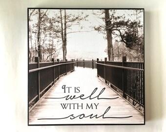 It Is Well With My Soul Wall Art Sepia Boardwalk Beautiful Decor