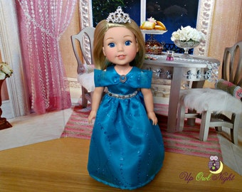 "Doll Princess Ball Gown -- American Made for Your 14"" Wellie Girl Doll"