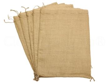 """20 Pack - 18x24 Large Burlap Bags - Natural Rustic Burlap Bags with Natural Jute Drawstring - Gunny Sack Bag - 18"""" x 24"""""""
