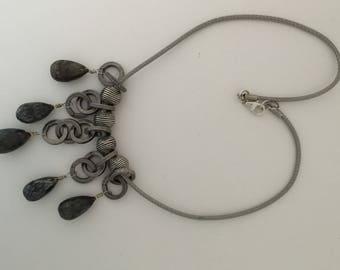 Labradorite drops necklace