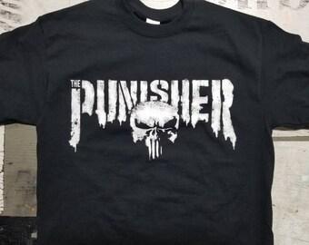 New Punisher skull Tshirt 2017 2018 logo design netflix season 1 daredevil 2 tv show marvel comics bernthal castle