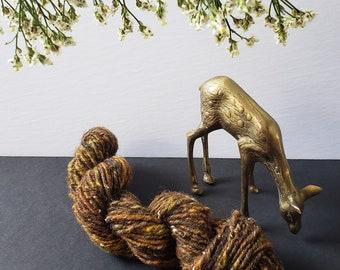 Hand Spun Merino Wool Single Ply - Mixed Browns